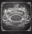 Vintage banner and chalk board vector image vector image