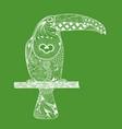 zentangle stylized toucan hand drawn doodle vector image vector image