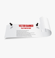 curved banner vector image