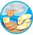 Sun beach vacation vector image