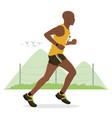 a man running vector image vector image