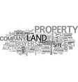 a sophisticated way to buy undeveloped land text vector image vector image