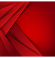 Abstract red background overlap layer and shadow vector image vector image