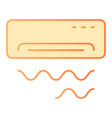 air conditioner flat icon cooling orange icons in vector image
