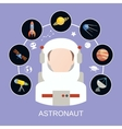 Astronaut and space icons vector image vector image