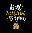 best wishes to you phrase christmas lettering vector image