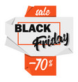 black friday advertising price tag origami-style vector image
