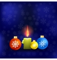 Candle and Colorful Glass Balls vector image