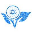 cardano eco startup icon grunge watermark vector image vector image