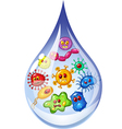 Cartoon of Drop of dirty water vector image vector image