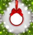 Celebration Card with Christmas Wreath vector image
