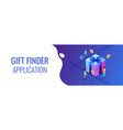 choosing gift idea isometric 3d banner header vector image vector image