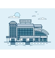 city street with Moll shopping center modern vector image vector image