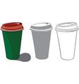 coffee pots vector image vector image