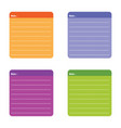color full note paper vector image vector image