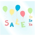 colorful balloons with sale word vector image vector image