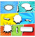 comic book colorful template vector image vector image
