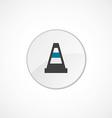 construction cone icon 2 colored vector image