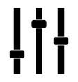 control panel the black color icon vector image vector image