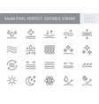 cosmetic properties line icons vector image