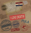 Croatia travel stamps