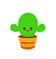cute smiling happy funny cactus vector image vector image