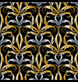 damask gold silver 3d seamless pattern vector image vector image