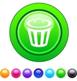 Dustbin circle button vector image