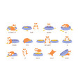 educational set hamster and english vector image