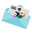 family portrait photos mother son father vector image