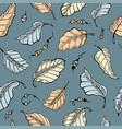 foliage seamless pattern vector image