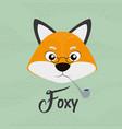 foxy fox cute cartoon vector image