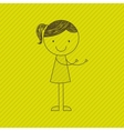 girl drawn design vector image