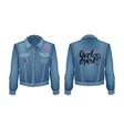 girl power denim jacket patch vector image vector image
