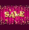 glitter gold grand sale balloon sign and falling vector image vector image