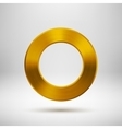 Gold Abstract Donut Button Template vector image vector image