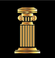 Gold column vector image vector image