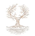 Graphic old branchy tree vector image
