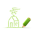 Green house sketch vector image