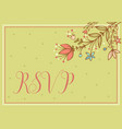 greeting card wedding card vector image vector image