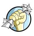 Hand Holding Papers vector image vector image