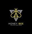 honey bee line art logo design best for animal vector image vector image