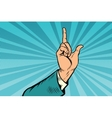 index finger up gesture vector image