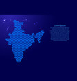 india map from 3d blue cubes isometric abstract