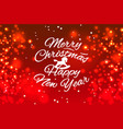 merry christmas and happy new year web banner vector image vector image