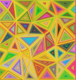 Multicolor chaotic triangle mosaic background vector image vector image
