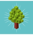 nature element isometric icon vector image