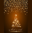 new year and christmas card design gold christmas vector image vector image