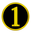 Number one button vector image