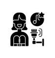 pop music black glyph icon vector image
